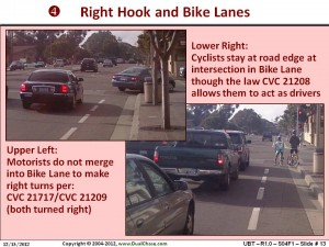 Right Hook and Bike Lanes