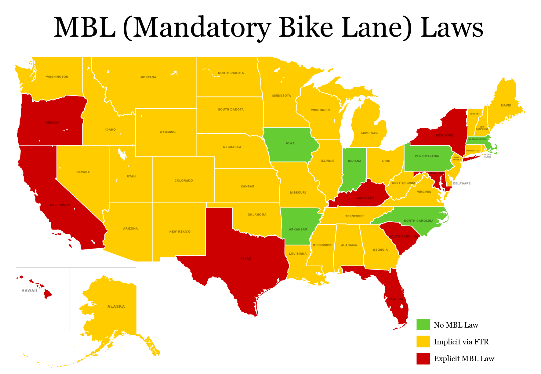 U.S. Bicycle Laws by State - i am traffic on u.s. shale map, infamous neon district map, pa shale map, yellow us flag, u.s. census map, cursing on oklahoma map,