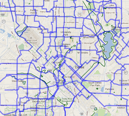 Dallas Bike Routes, Today