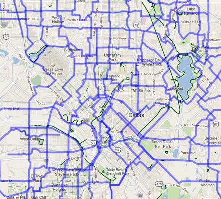 Dallas Bike Routes, Today