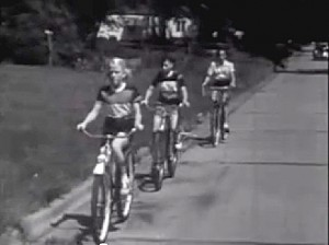 Teaching children to ride at the edge of the road Bicycle Safety, Centron Corp, Lawrence, KS